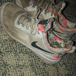 Nike with floral design